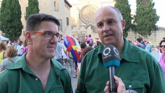 Èric Bellmunt i Toni Serra, després de la diada de Festa Major