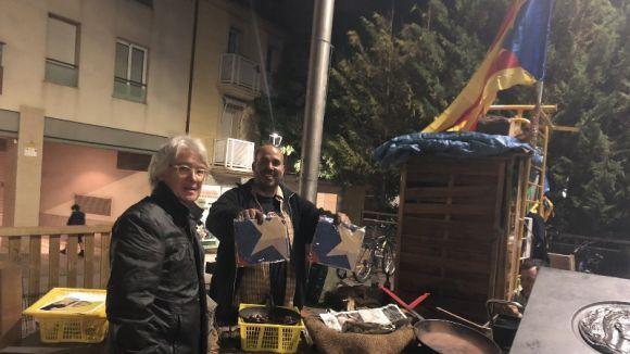 Imatge de l'entrega / Foto: Twitter ANC Sant Cugat