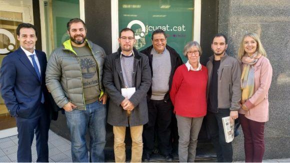 Els representants polítics que han participat en la tertúlia d'aquest dimecres