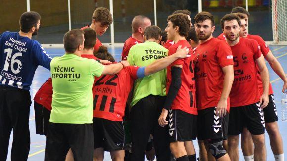 Els jugadors de l'Handbol Sant Cugat / Foto: Handbol Sant Cugat