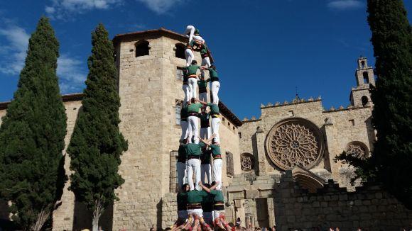 Una actuació dels Castellers de Sant Cugat a Octavià / Foto: Cugat Mèdia