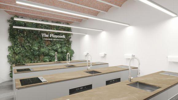 L'escola tindrà una aula amb espais per diferents cuiners / Foto: Playcook