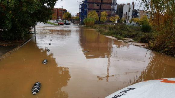 Prop de 96 litres per metre quadrat acumulats a Sant Cugat per les fortes pluges