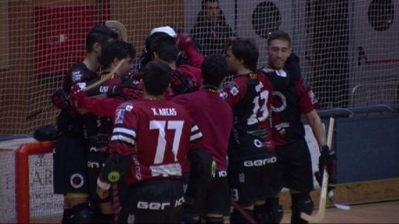 Els jugadors del Patí Hoquei celebrant la victòria / Foto: Cugat.cat