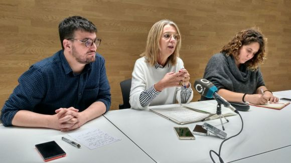 Gutiérrez, Ingla i Gibert, durant la roda de premsa / Foto: Cugat.cat