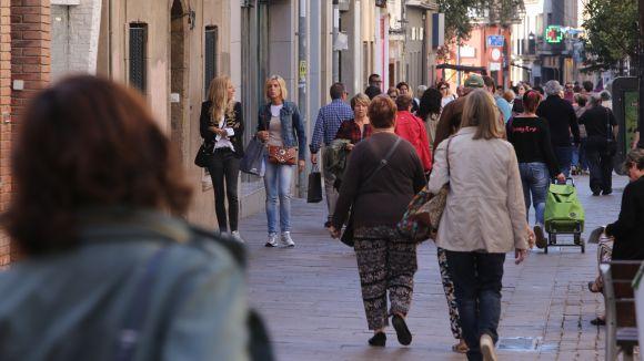 L'eix comercial de Sant Cugat continuarà obert durant l'agost / Foto: Lluís Llebot - Cugat Mèdia