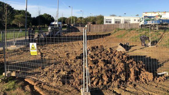 Comencen les obres d'ampliació del pati de l'escola La Mirada
