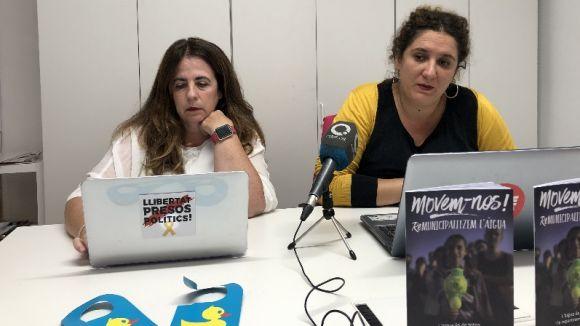 Les regidores de la CUP-PC Lourdes Llorente i Núria Gibert / Foto: Cugat.cat