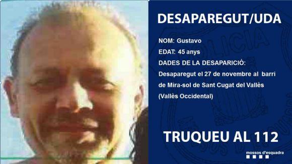 Els Mossos demanen ajuda per trobar un home desaparegut a Mira-sol