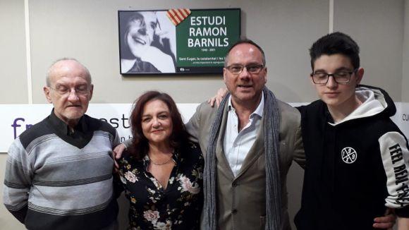 Rafael Guerrero, amb els presentadors del programa / Foto: Cugat.cat