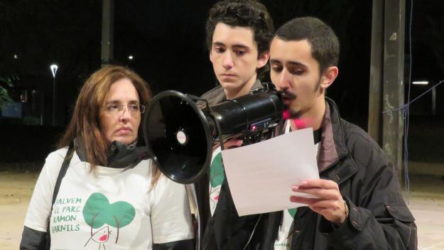 La plataforma ha llegit un manifest a un acte de presentació al parc / Foto: Cugat.cat