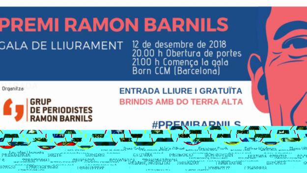 Detall del cartell del Premi Ramon Barnils / Foto: Grup Ramon Barnils