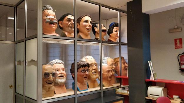 Els Caparrots de Sant Cugat, reubicats al vestíbul de la Casa de Cultura