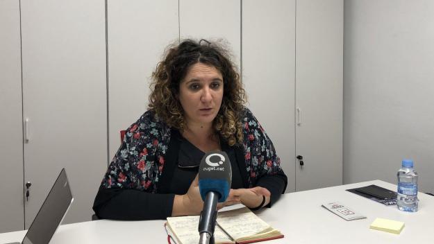 Núria Gibert en roda de premsa / Foto: Cugat.cat