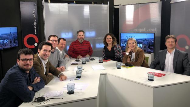 Els representants polítics a la tertúlia d'avui / Foto: Cugat.cat