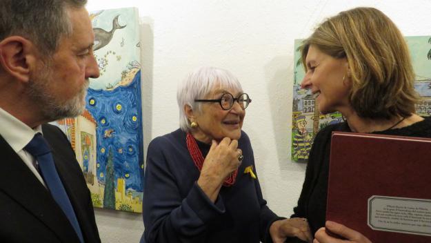 Pilarín Bayés porta la seva 'alegria de viure' a la Sala Rusiñol