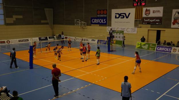 Imatge d'un partit del Volei Sant Cugat d'aquesta temporada / Foto: Cugat.cat
