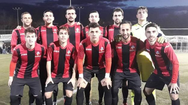Imatge dels jugadors del Sant Cugat abans d'un partit / Foto: Sant Cugat FC