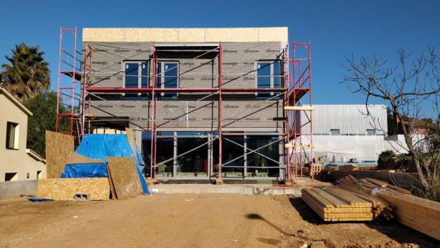 La casa ja pren forma / Foto: Cugat.cat
