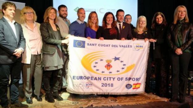 L'acte de cloenda de Sant Cugat, Ciutat Europea de l'Esport, el 30 de gener / Font: Cugat.cat