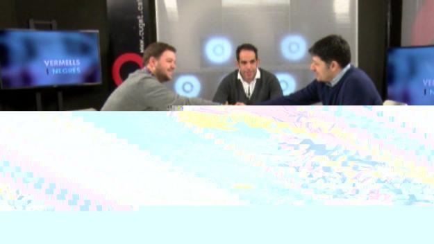 D'esquerra a dreta, Jordi Rozas i Manel Muñoz durant l'entrevista a Cugat.cat