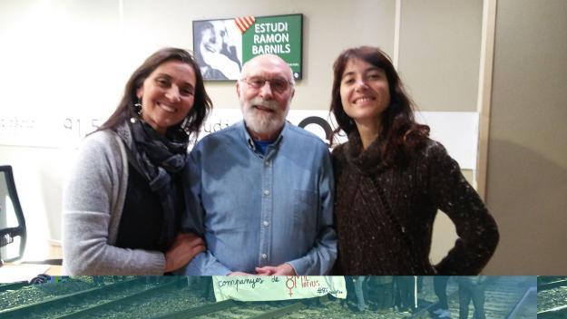 Núria Rossy i Ariana Bofill amb Eduard Jener al centre / Foto: Cugat.cat
