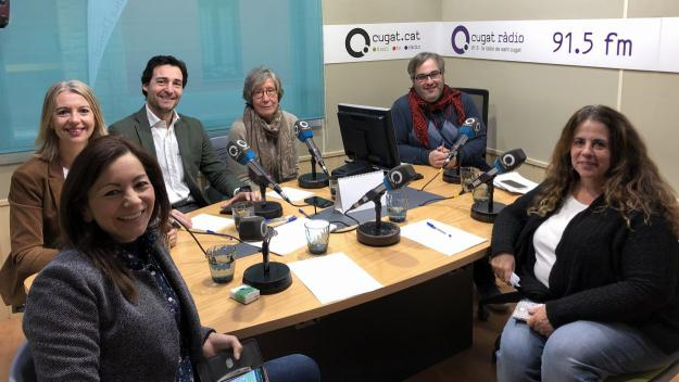 Imatge dels participants a la tertúlia política / Foto: Cugat.cat