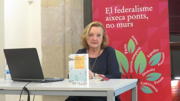 Carme Valls, aquest dijous al Casal Torreblanca / Foto: Cugat.cat
