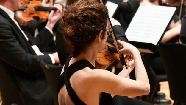 Lluís Cabal posa l'exemple d'un concert per a violí i orquestra / Foto: Localpres