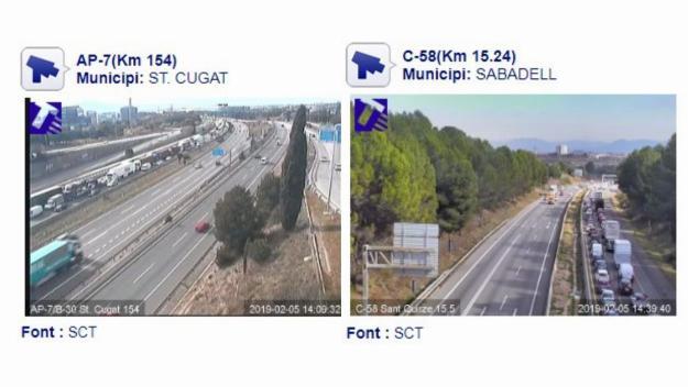 Imatge de les afectaccions de l'accident / Foto: Servei Català de Trànsit