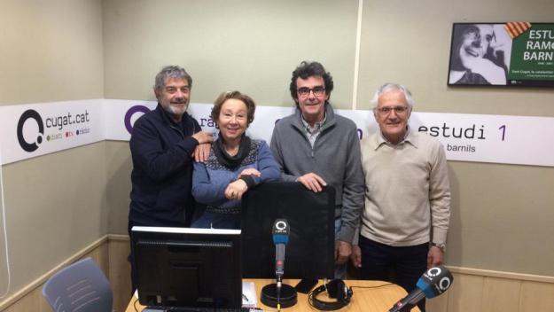 L'equip del programa amb Rosa Maria Campmany / Foto: Cugat.cat