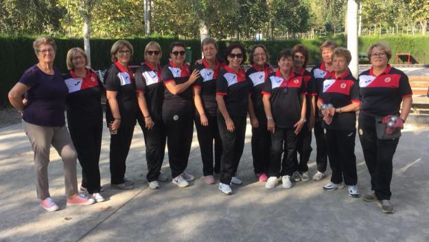L'equip femení del Club Petanca Sant Cugat vol pujar a Tercera / Font: Petanca Sant Cugat