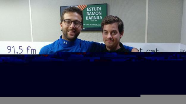 Riqui Martínez, a l'esquerra, amb el preparador físic del club, Francesc Alomà / Foto: Cugat.cat