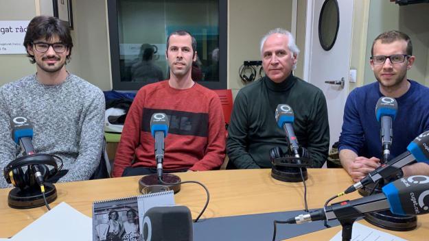 D'esquerra a dreta, Jan Peiró, Eric Forné, Agustí Forné i Albert Garcia / Font: Cugat.cat