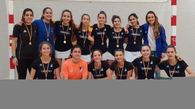 El juvenil femení del Junior ha guanyat l'Estatal d'hoquei sala / Font: Club Junior