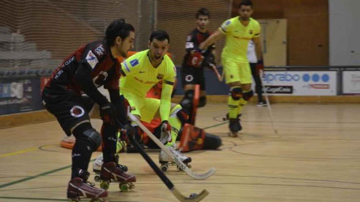 Imatge del Barça al Pav 2 de la Rambla del Celler / Font: Cugat Mèdia
