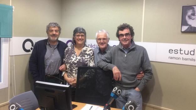 La presidenta de l'Ateneu, Margarida Cleris, visita el 'Converses consentides'