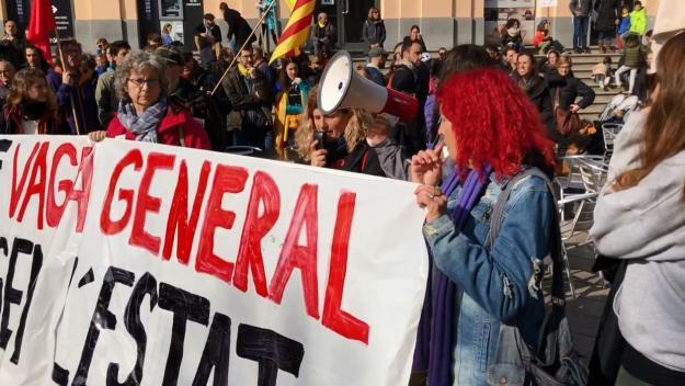 Imatge d'arxiu de la vaga general del 21-F / Foto: Cugat Mèdia
