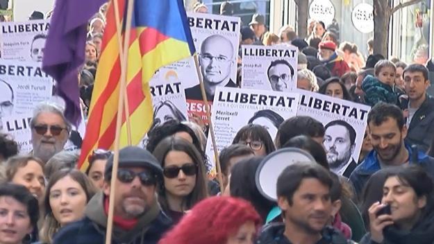 Una manifestació massiva i un tall a FGC fan notar la vaga del 21-F a Sant Cugat