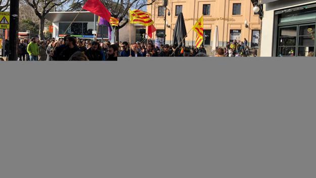 Moment de l'inici de la manifestació a Sant Cugat / Foto: Cugat.cat