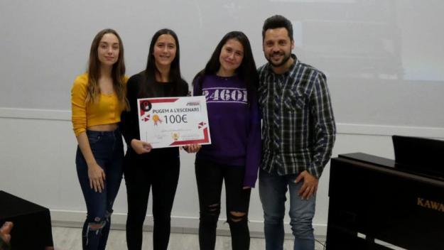 Mireia i Clara González, guanyadores del primer Pugem a l'escenari