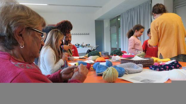 El taller s'ha celebrat aquest dissabte a la Casa de Cultura / Foto: Cugat.cat