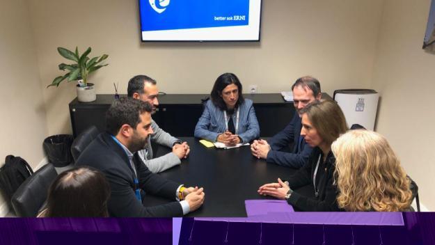 Imatge de la reunió entre el Govern i l'empresa ERNI / Foto: Generalitat de Catalunya