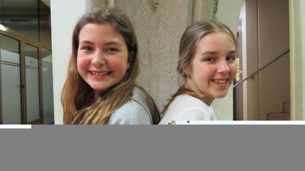 Clara Blampain i Elsa Compte, impulsores del 'Fridays for Future' a Sant Cugat / Foto: Cugat.cat