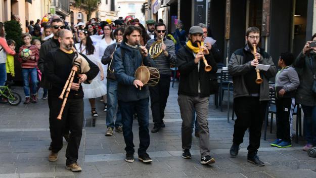 La música de les activitats de cultura popular només es podia escoltar fins ara al carrer / Foto: Localpres