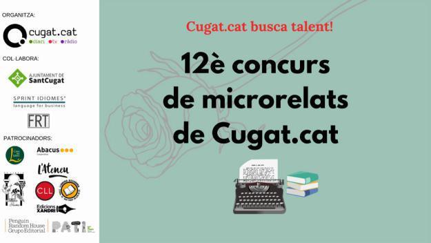 Cartell promocional del concurs de microrelats de Cugat.cat