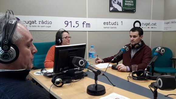 D'esquerra a dreta, Lluís Cabal, Carme Reverte i Òscar Lanuza