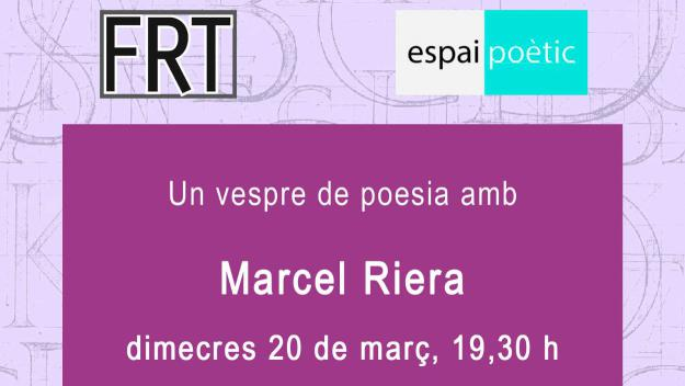 Espai poètic: Marcel Riera
