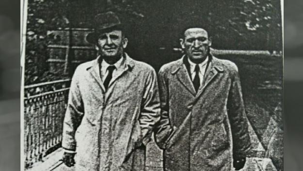 Magí Bartralot, a l'esquerra, amb el seu germà Bonaventura / Foto:  Foto cedida per Andrea Casanova, via Josep Perea