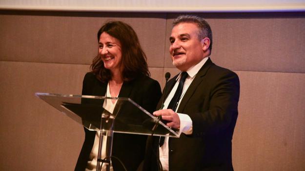 L'exalcaldessa, Mercè Conesa, ha ofert una xerrada sobre el Port de Barcelona / Foto: Localpres